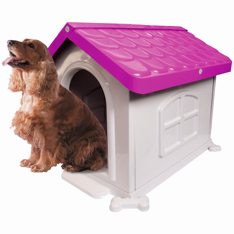 Casinha de Cachorro Medio Desmontável Nº 3 Pet Injet - Rosa