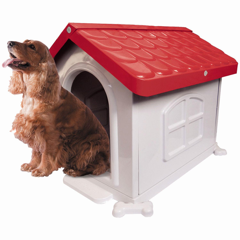 Casinha de Cachorro Medio Desmontável Nº 3 Pet Injet - Vermelha