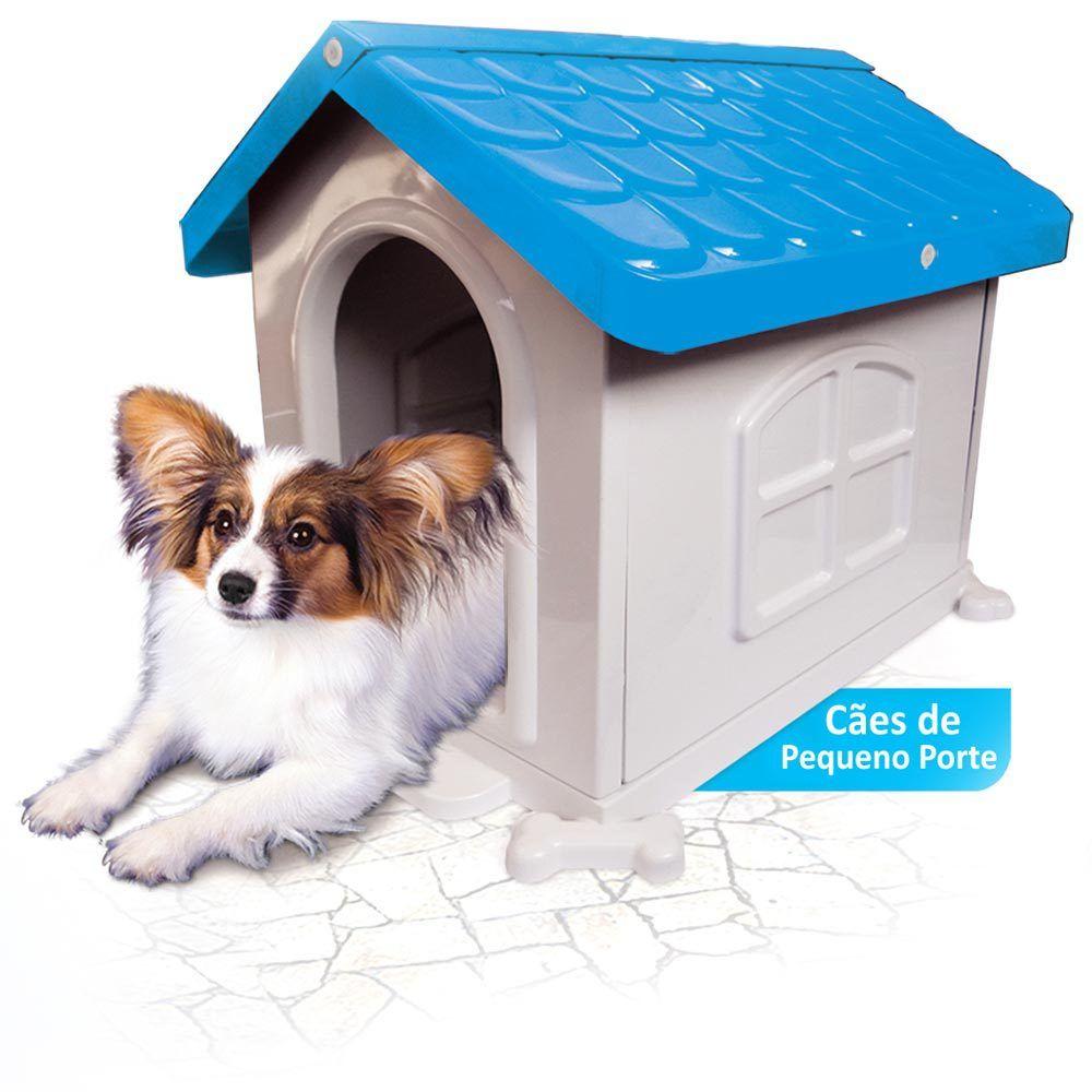 Casinha de Cachorro Pequeno Desmontável Nº 2 Pet Injet - Azul