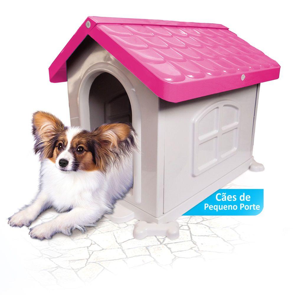 Casinha de Cachorro Pequeno Desmontável Nº 2 Pet Injet - Rosa