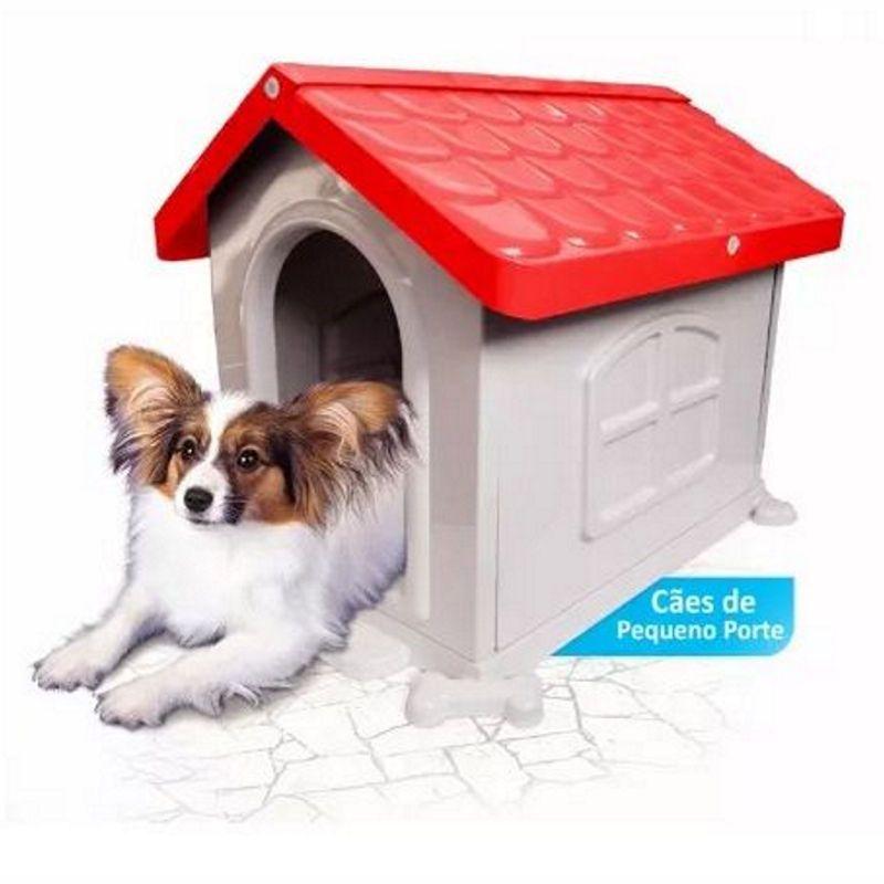 Casinha de Cachorro Pequeno Desmontável Nº 2 Pet Injet - Vermelha