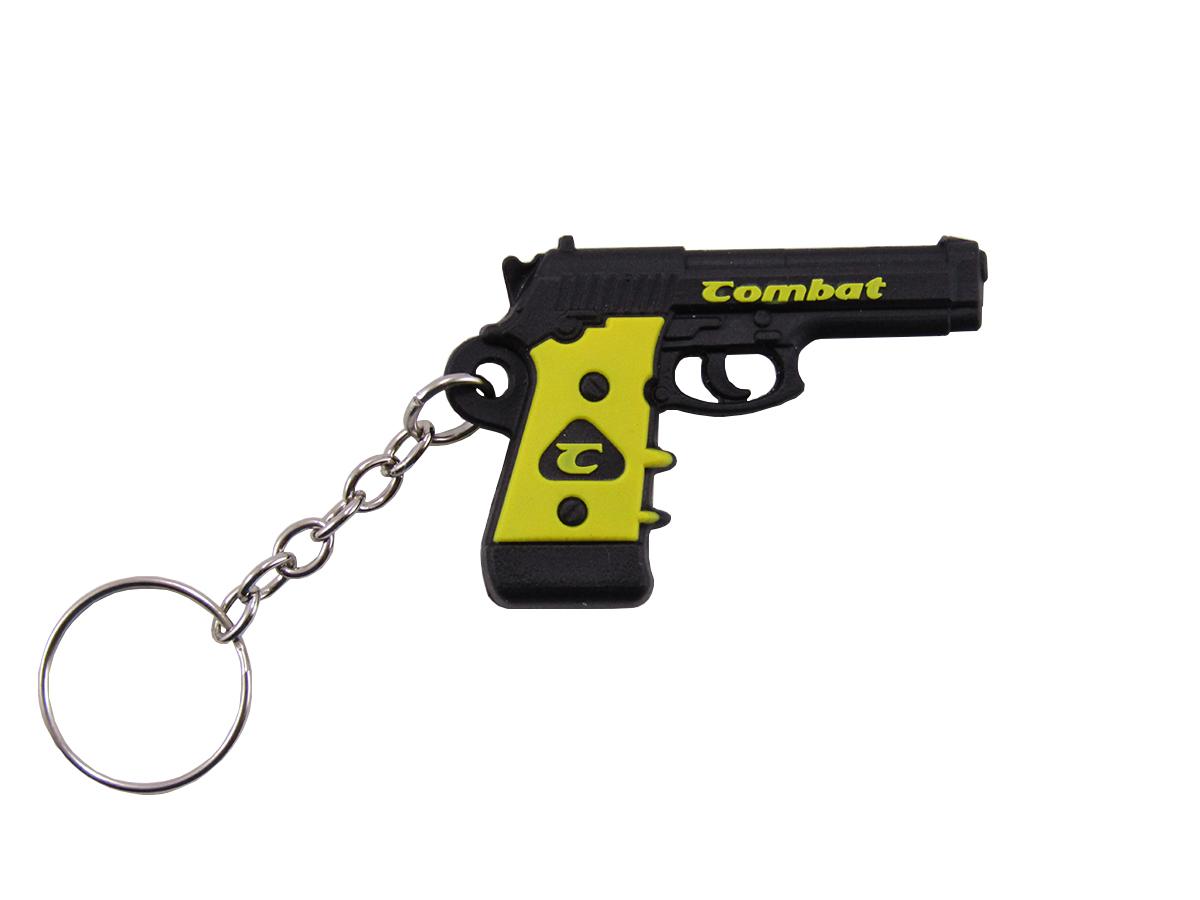 Chaveiro Pistola Combat - Preto