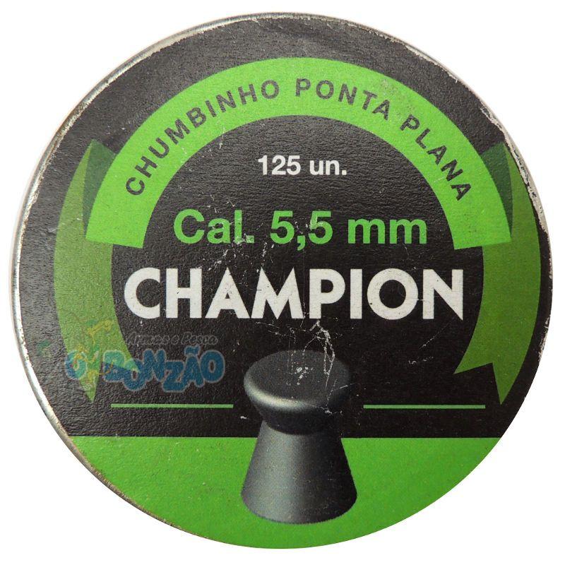 Chumbinho Champion Ponta Plana CBC 5,5mm c/ 125 unidades