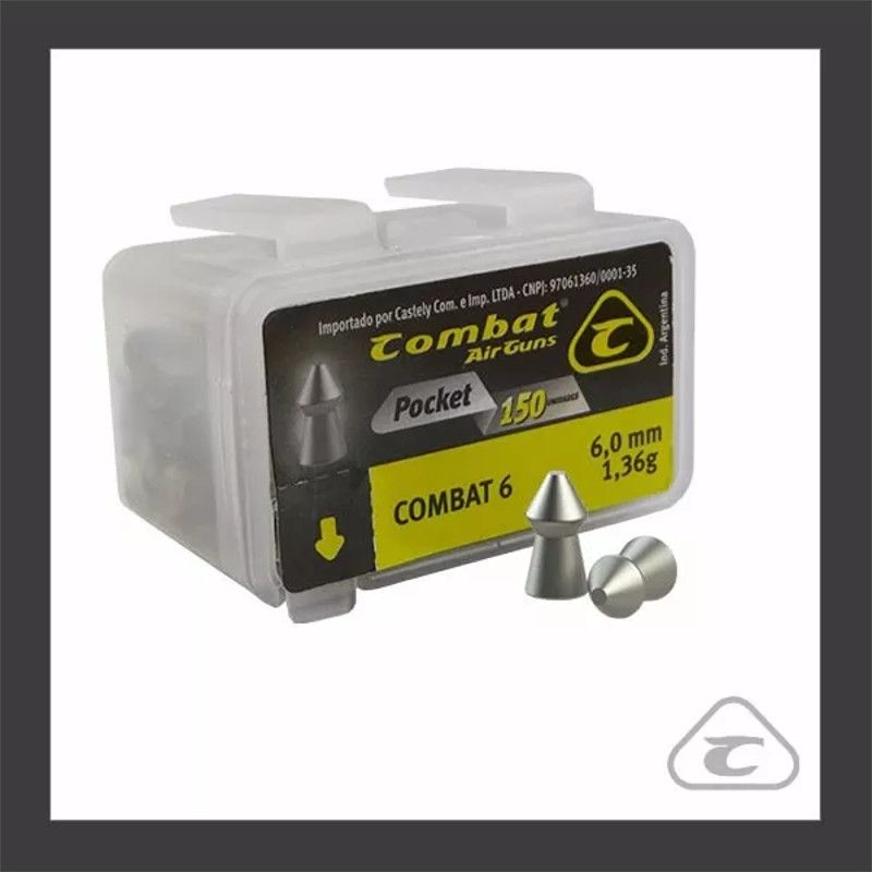 Chumbinho Combat Pocket 6,0mm 150un.