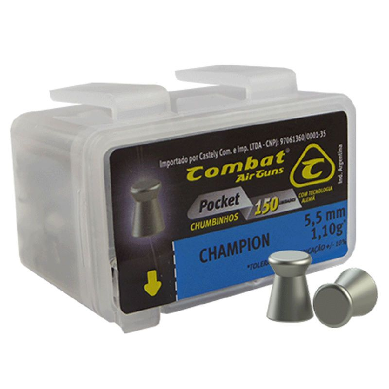 Chumbinho Combat Pocket Champion 5,5mm 150un.