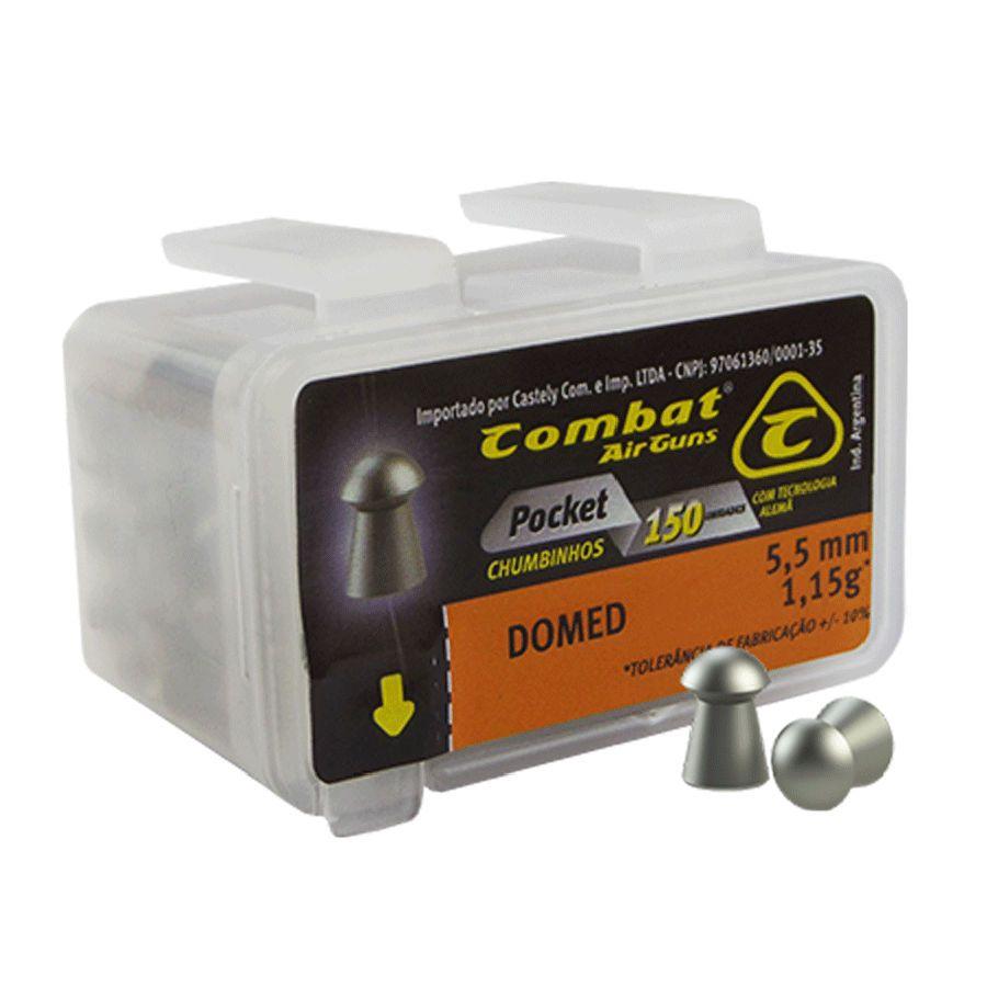 Chumbinho Combat Pocket Domed 5,5mm 150un.