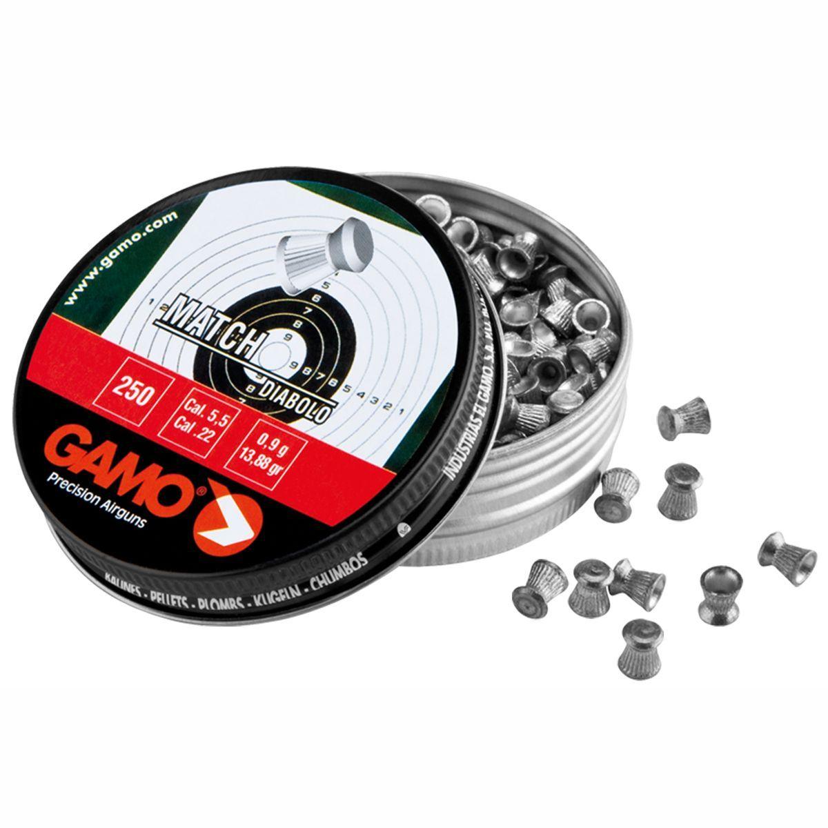 Chumbinho Gamo Match Diabolo Cal. 5,5mm - 250 unidades