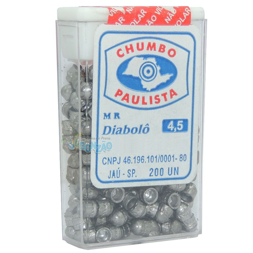 Chumbinho Paulista Diabolô 4,5mm - 200 Unidades
