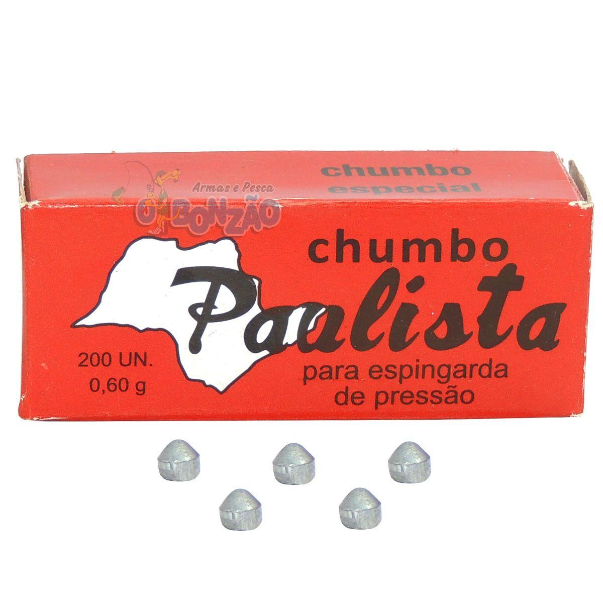 Chumbinho Paulista Especial 4,5mm - 200 Unidades