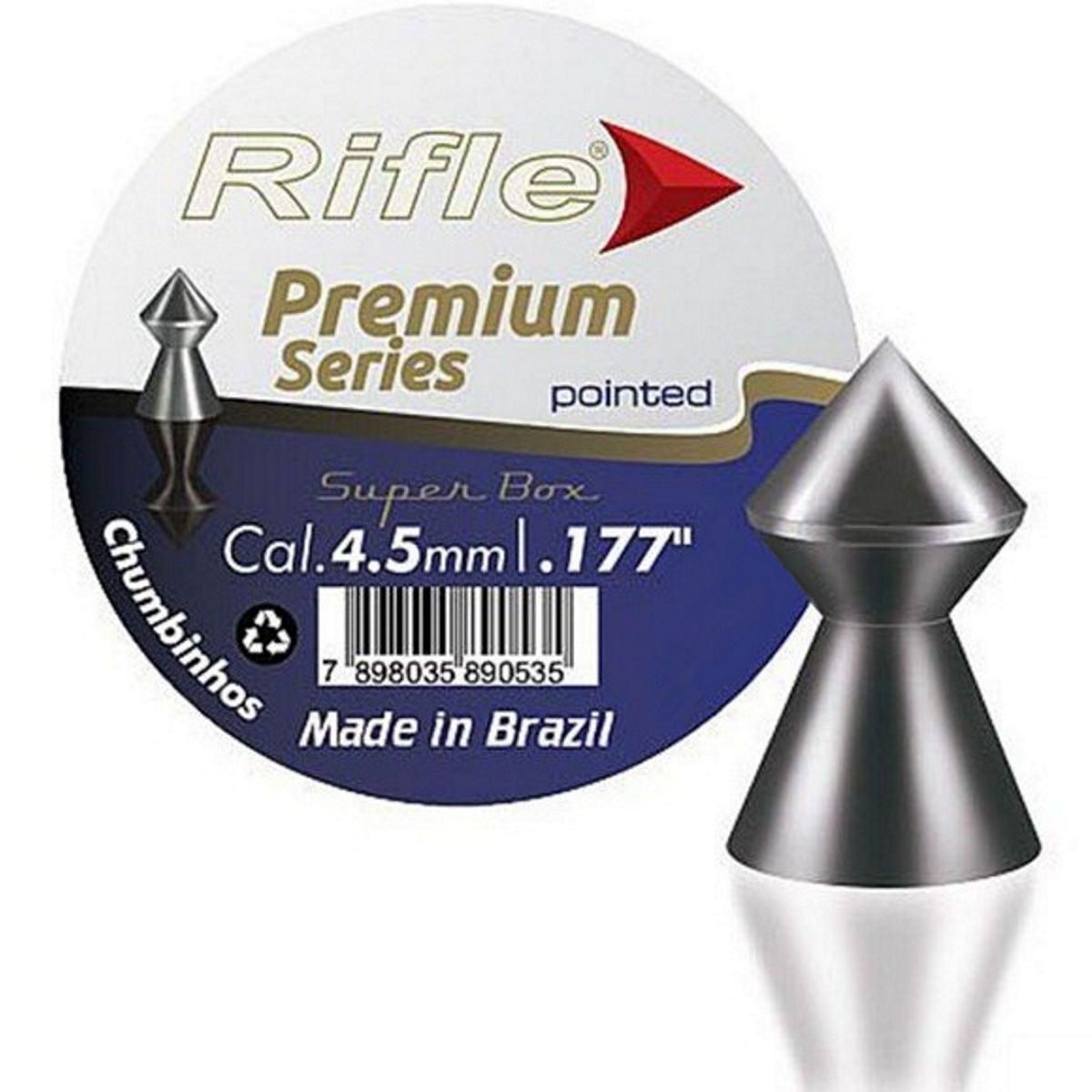 Chumbinho Rifle Pointed Premium Series Cal. 4,5mm - 250 unidades