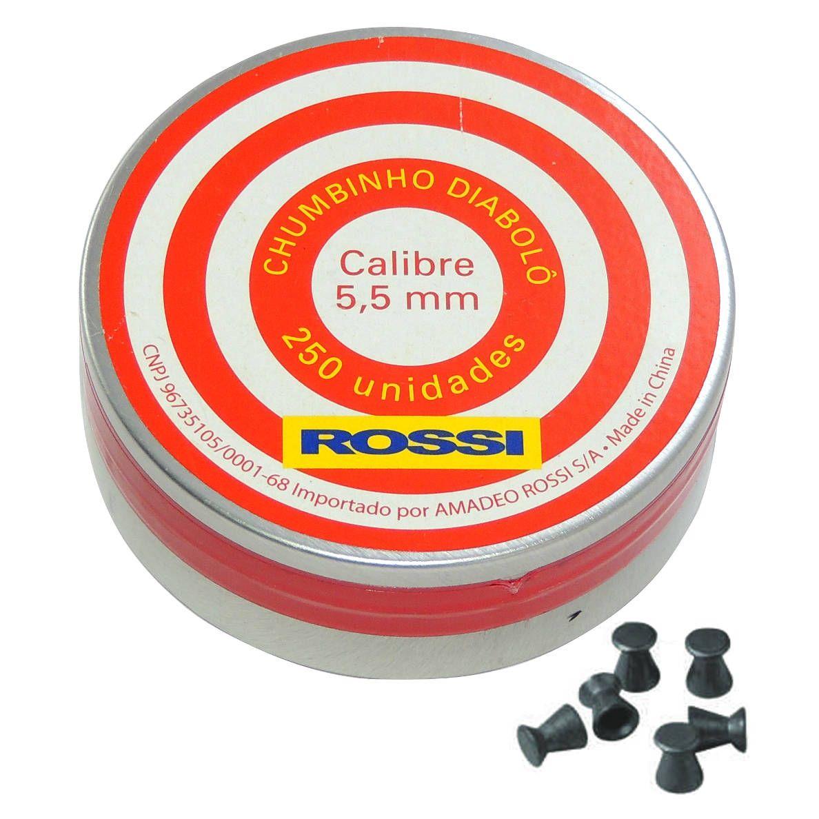 Chumbinho Rossi Diabolô Cal. 5,5mm - 250 unidades