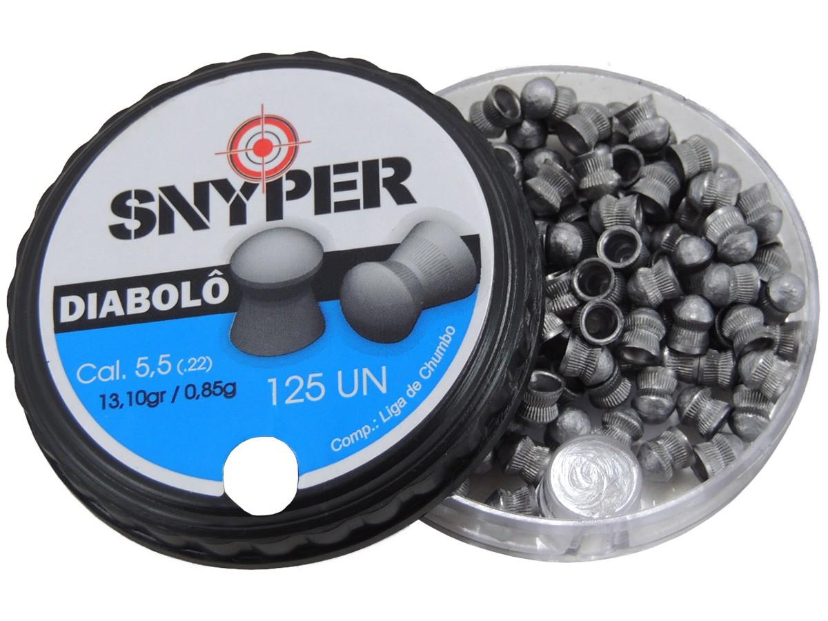 Chumbinho Snyper Diabolô Cal. 5,5mm - 125 unidades