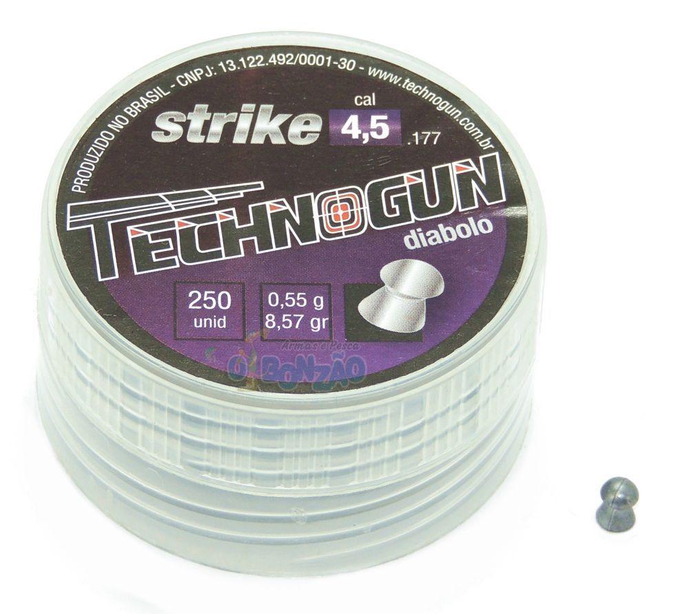 Chumbinho Technogun Strike Diabolo 4,5mm - 250 unidades
