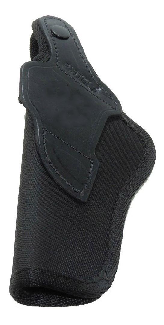 Coldre Couro Cru em Nylon Com Presilha P/ Pistola G17 - Destro