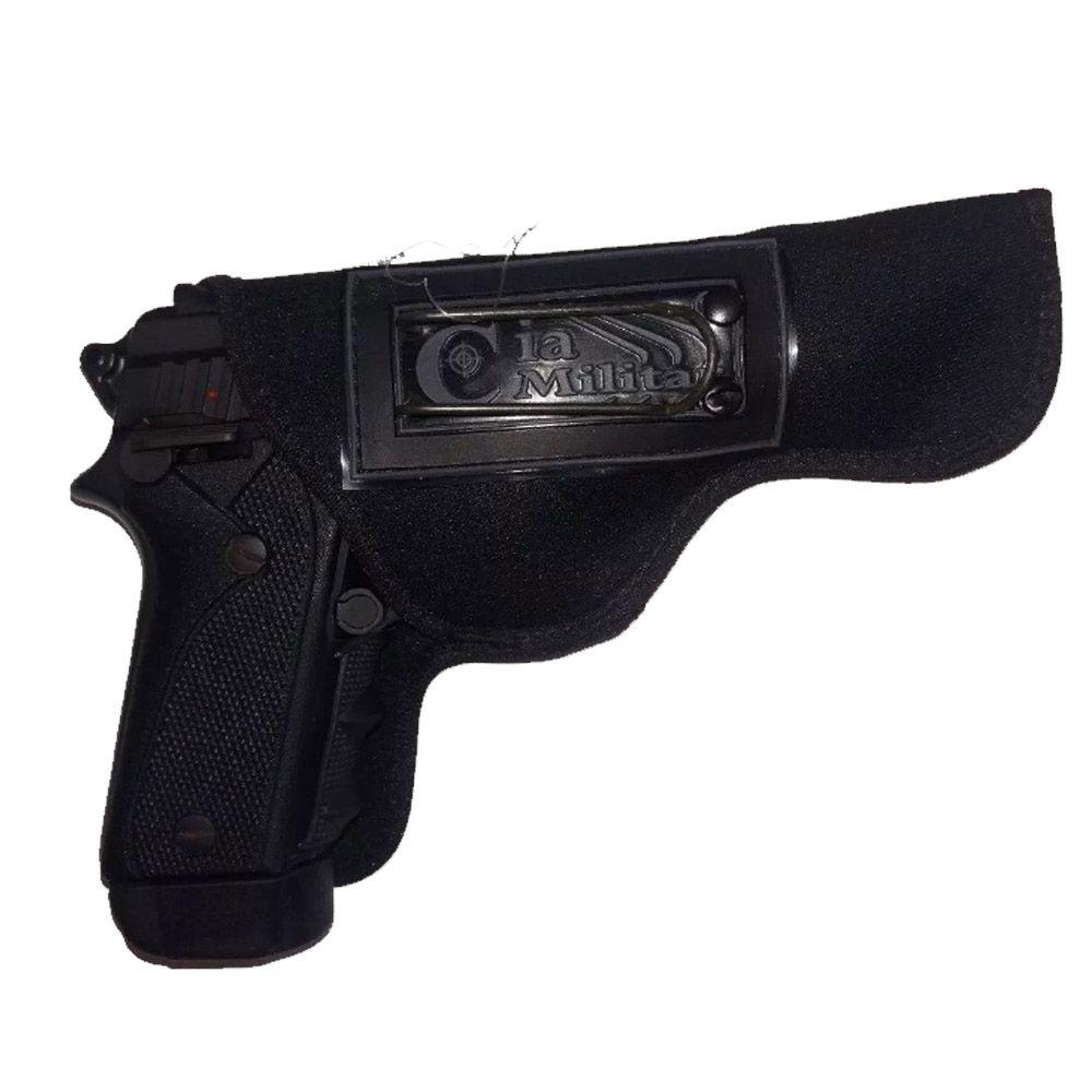 Coldre Neoprene para Pistola Destro Cia Militar Cm0027 Velado Taurus 24/7,380 e outros