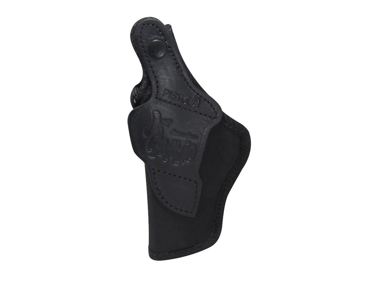 Coldre Couro Cru Nylon C/ Presilha P/ Pistola PT938 - Destro