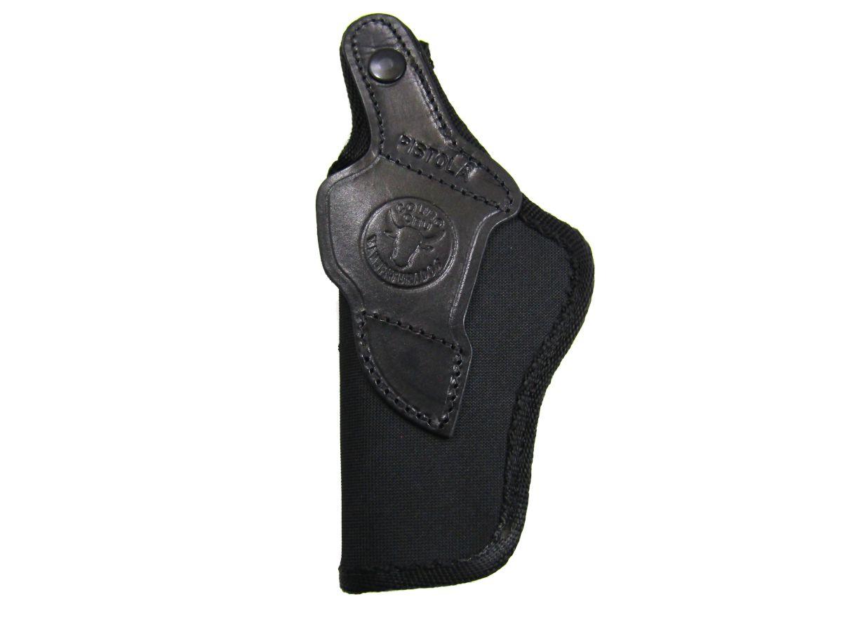 Coldre para Pistola Couro Cru Nylon Destro Imbel MD2