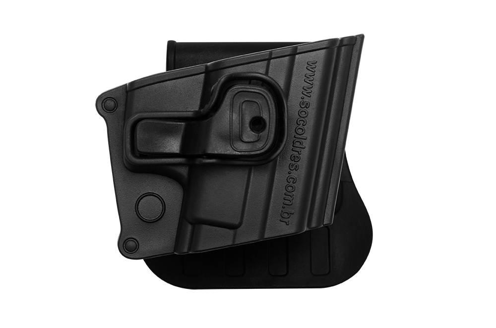 Coldre Polímero Só Coldres Universal Taurus / Glock G25 - Destro - SC021D