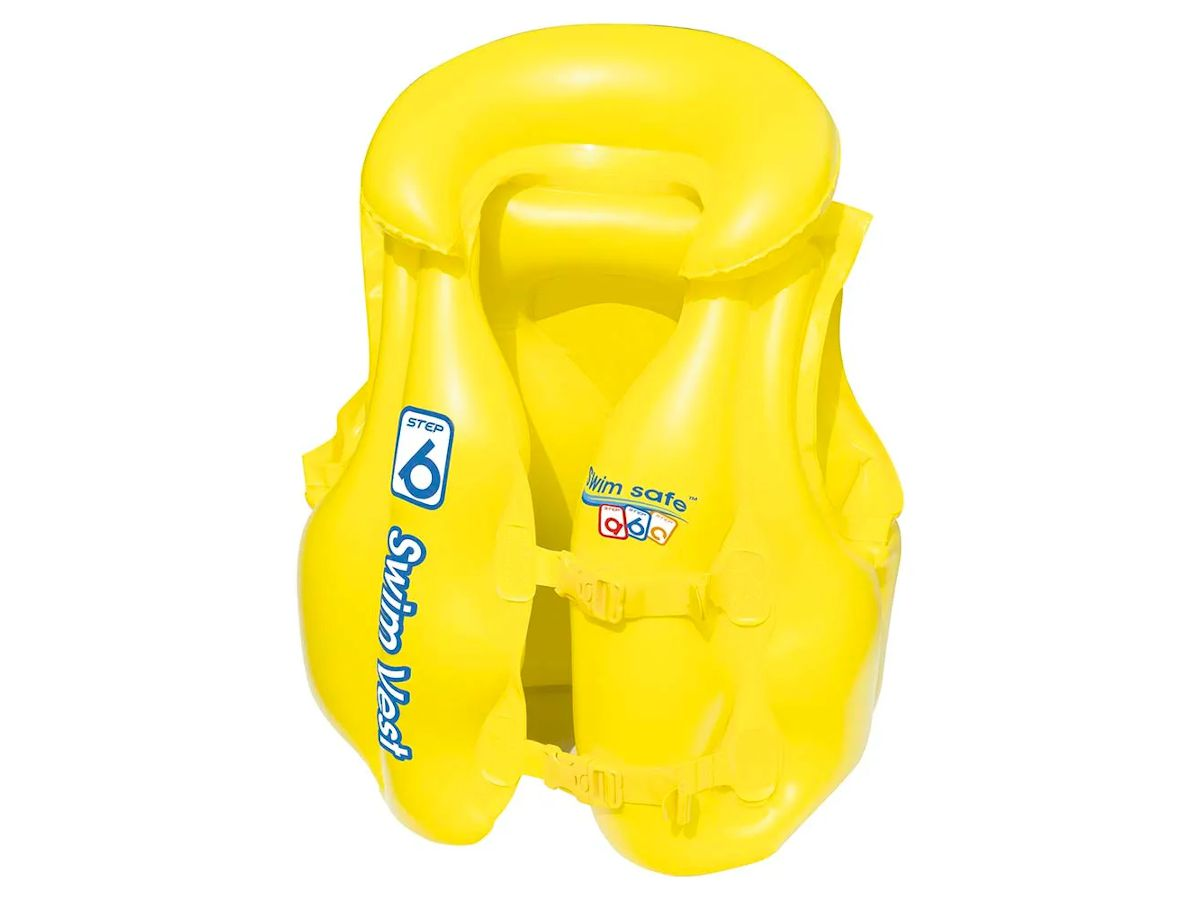 Colete Inflável Infantil Premium - Mor - 3 a 6 Anos