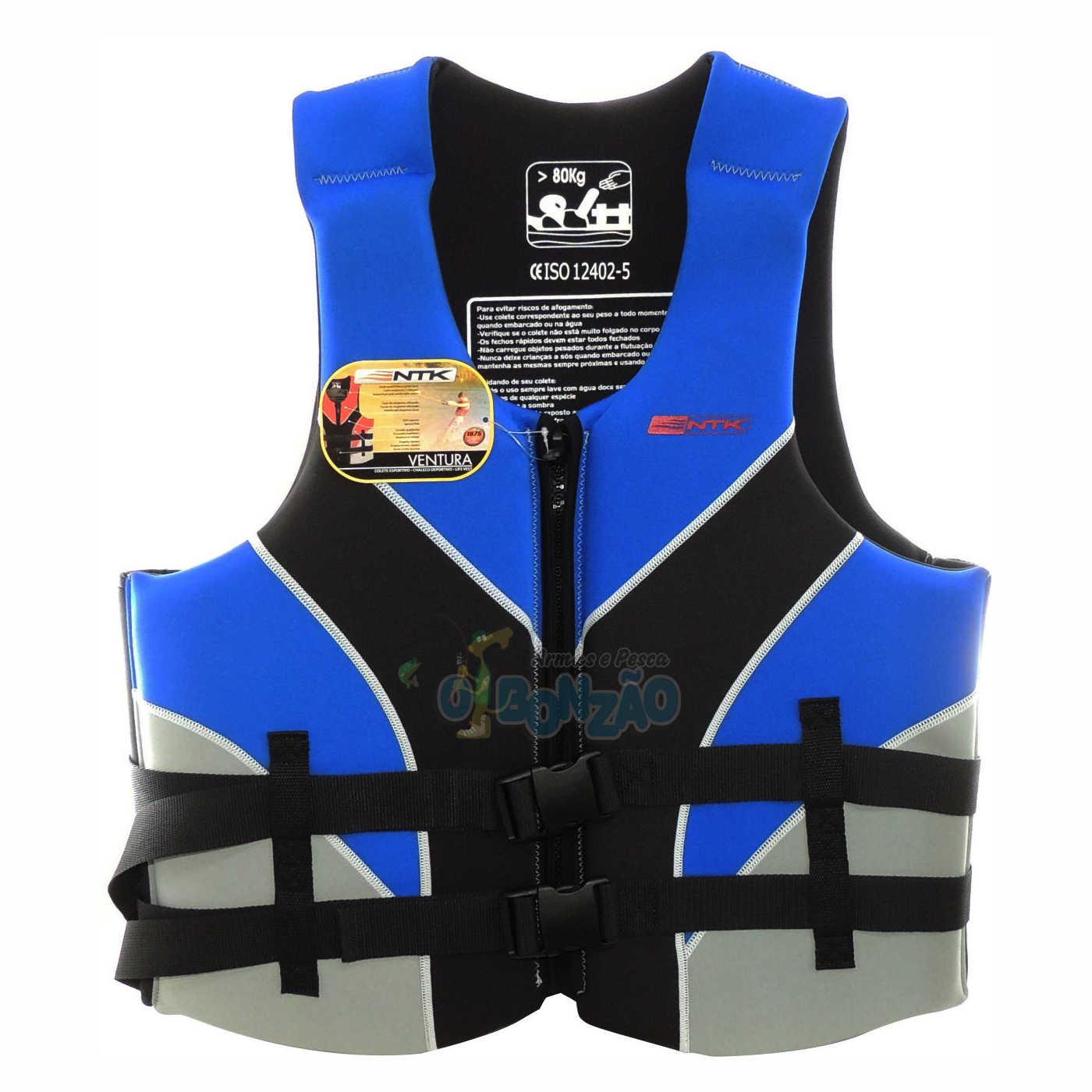 Colete Salva Vidas Ntk Ventura XXL 80-100kg - Azul