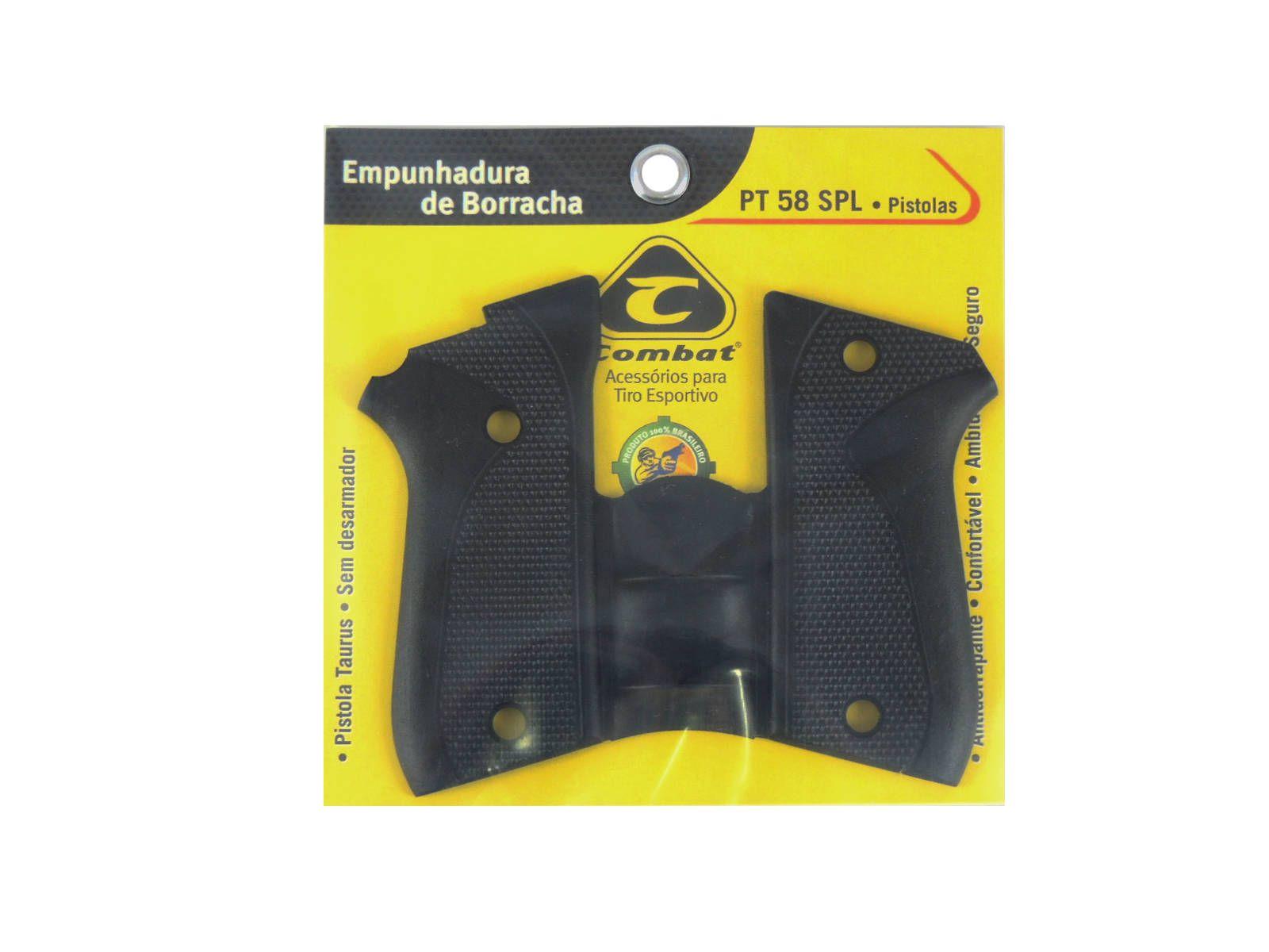 Empunhadura Borracha P/ Pistola 12+1 S/ Desarmador Pt 58sd / 58s / 57sc / 92cd