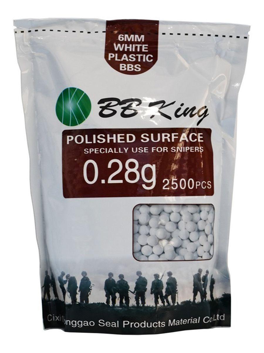 Esferas BBs Airsoft 0,28g Pacote 2500Un - BB KING