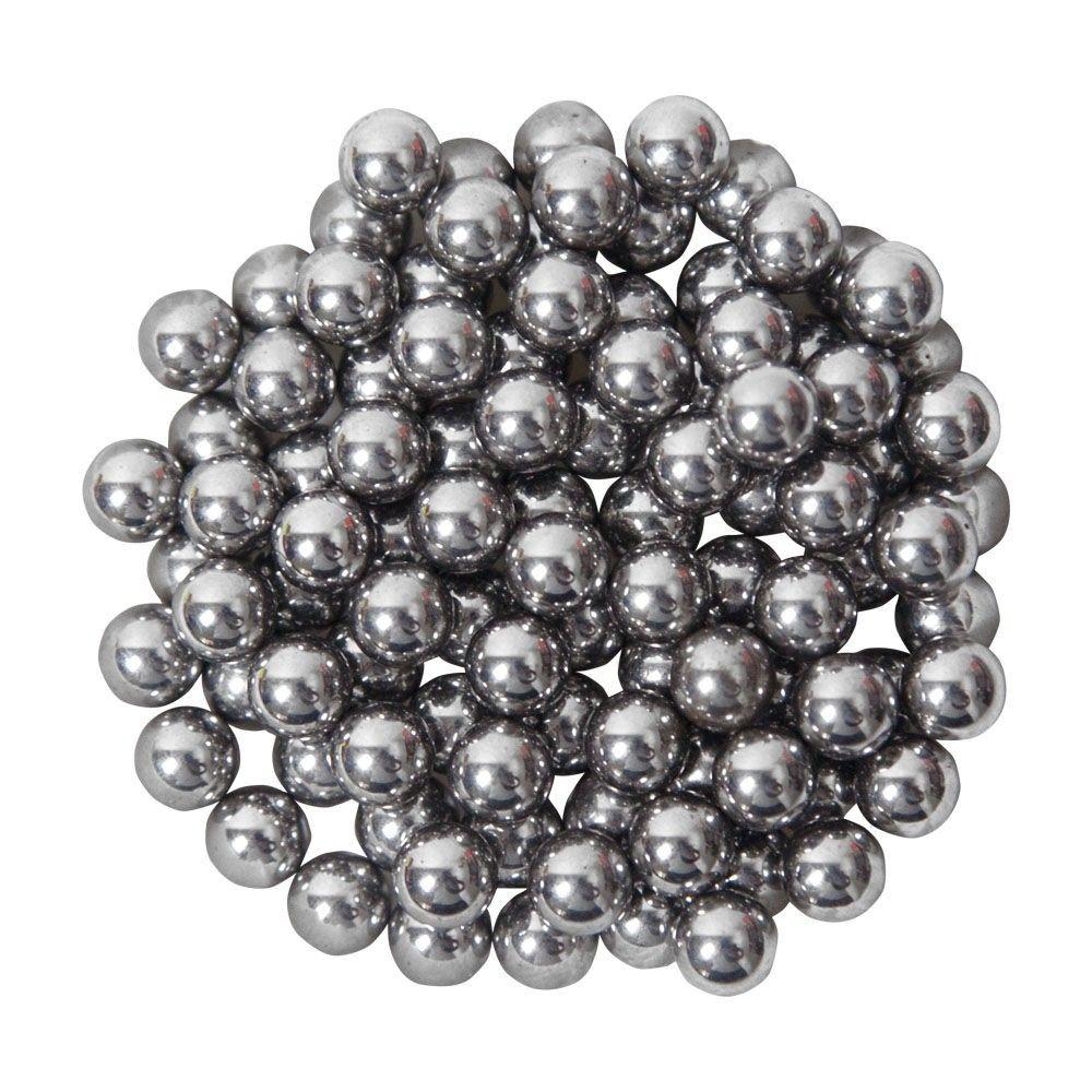 Esferas De Aço Cromado Ntk Nautika para Atiradeira c/ 100 Unidades