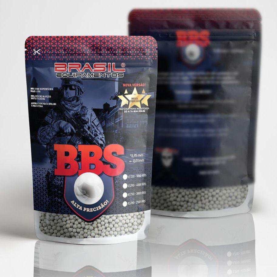 Esferas Plásticas BBs Alta Precisão 0.20g King - Branca 4000un Nova Versão