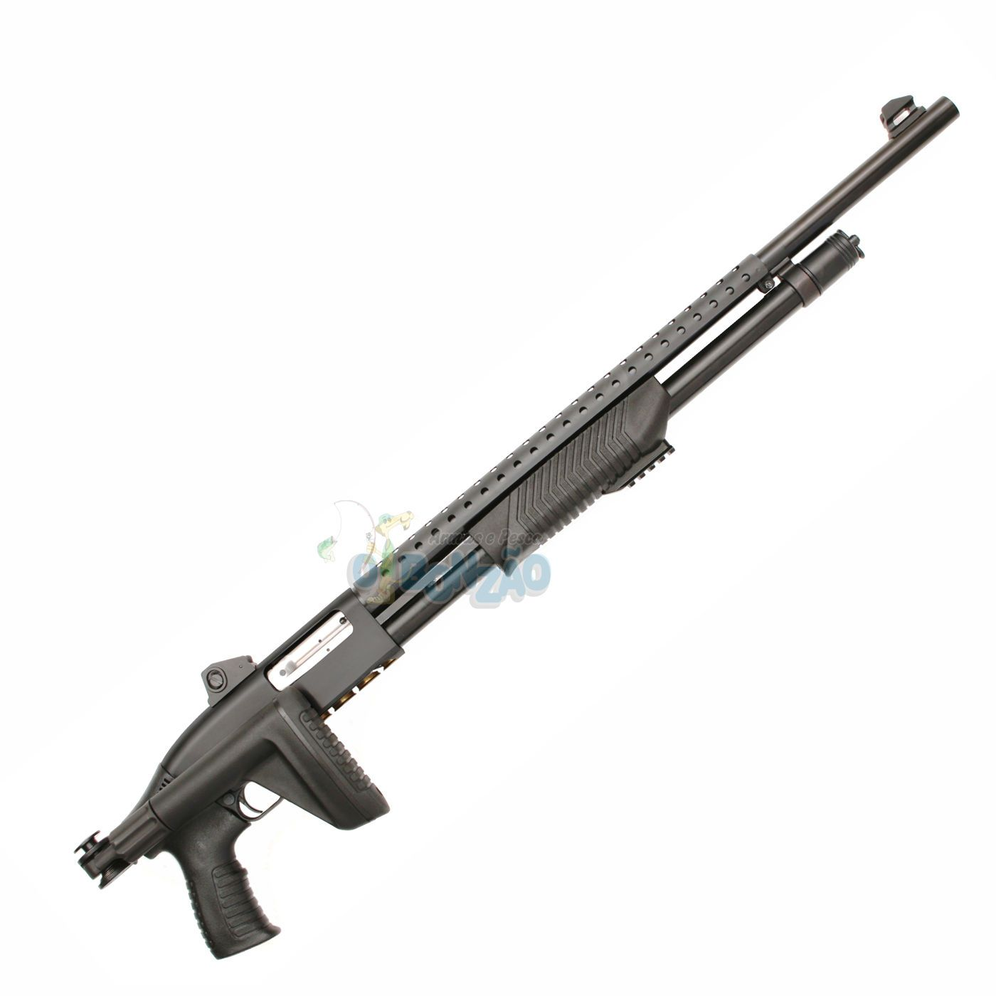 """Espingarda CBC Pump 586.2/7 CYL Tactical - Cal.12 - 8 Tiros - Cano 24"""" - Oxidada"""