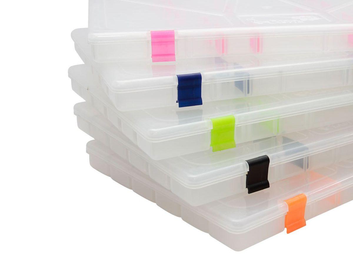 Estojo Box 23 Rochel Pesca Transparente - 22 Divisões