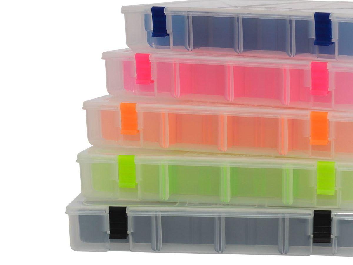 Estojo Box 50 Rochel Pesca Transparente - 17 Divisões