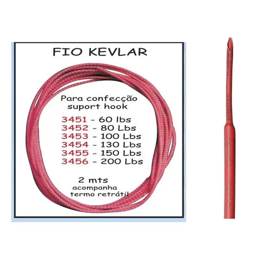 Fio Kevlar Miramar para Confecção de Suporte Hook 130lbs 2m