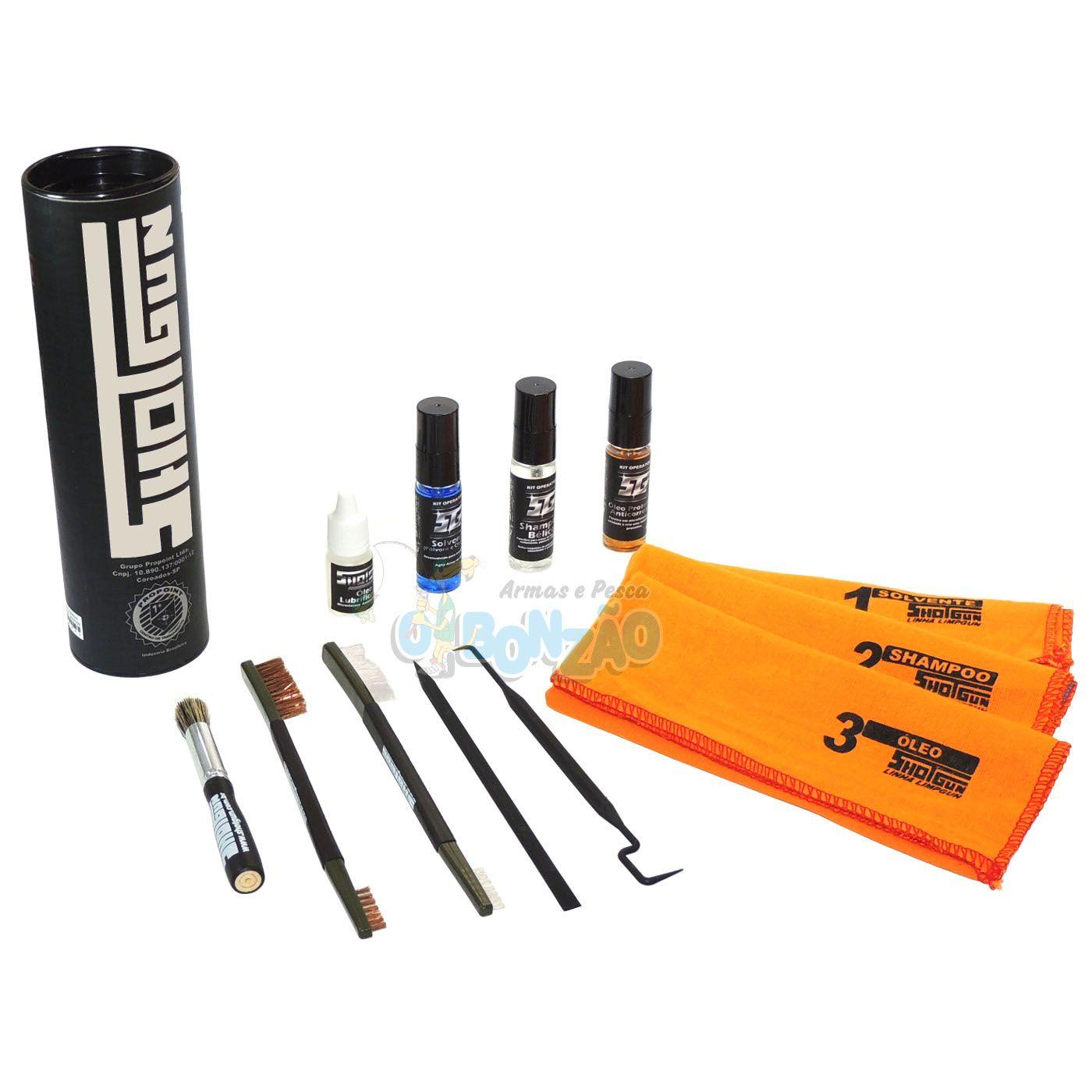 Kit Operator Shotgun para Manutenção e Limpeza de Armas