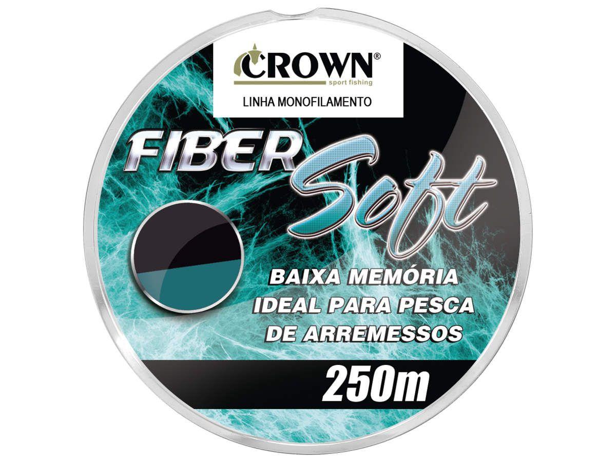 Linha Monofilamento Crown Fiber Soft Verde 0,40mm 32Lbs - 250m