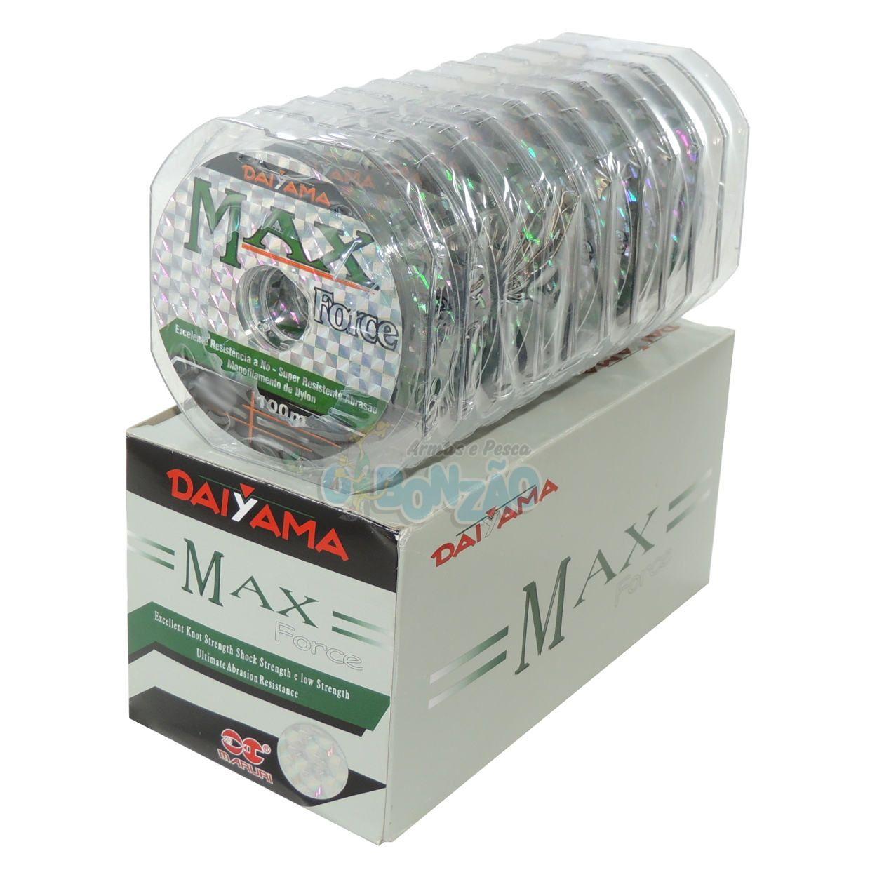 Linha Max Force Monofilamento - 0,66mm | 99Lbs - Caixa c/10