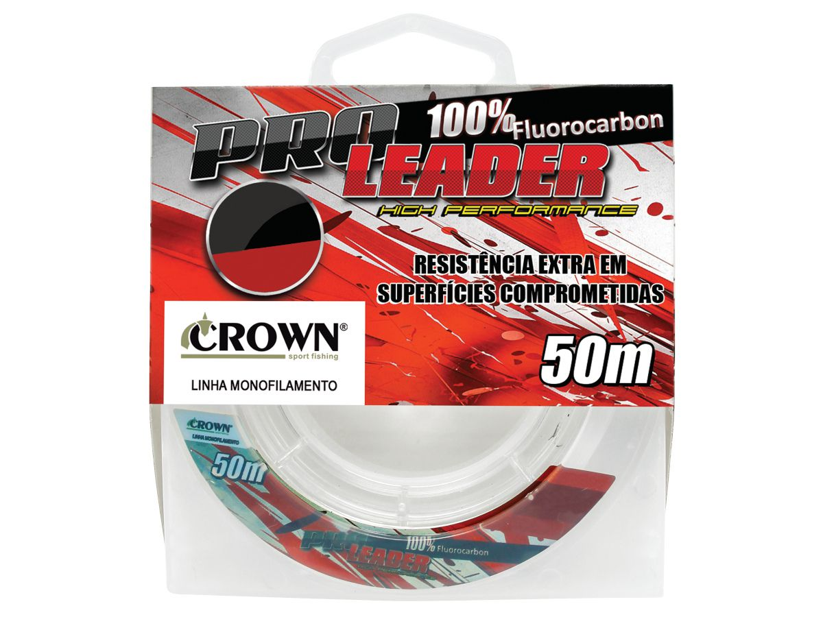 Linha Monofilamento Crown Pro Leader 0,31mm 16Lbs - 50m