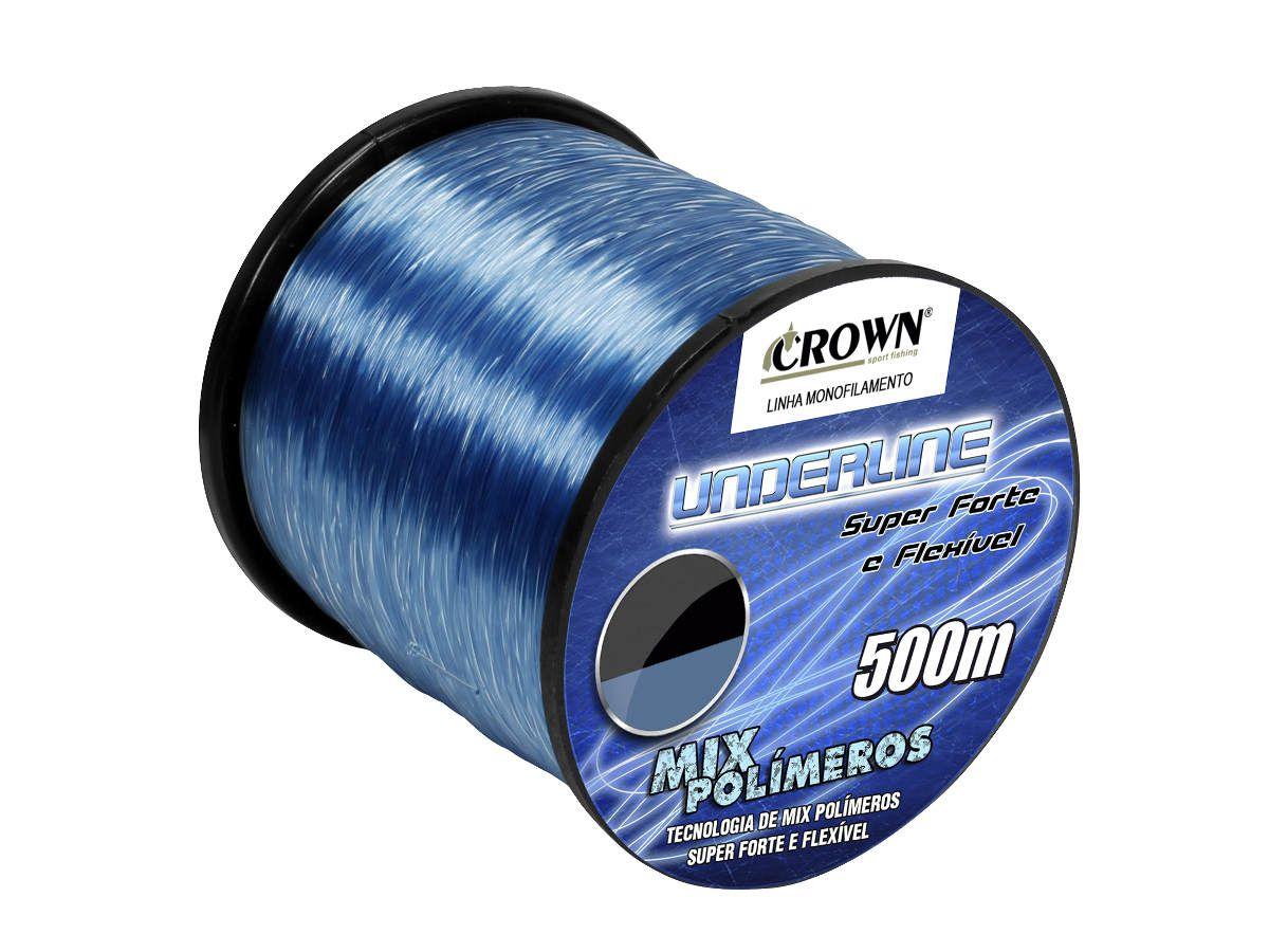 Linha Monofilamento Crown Underline 0,46mm 40Lbs - 500m