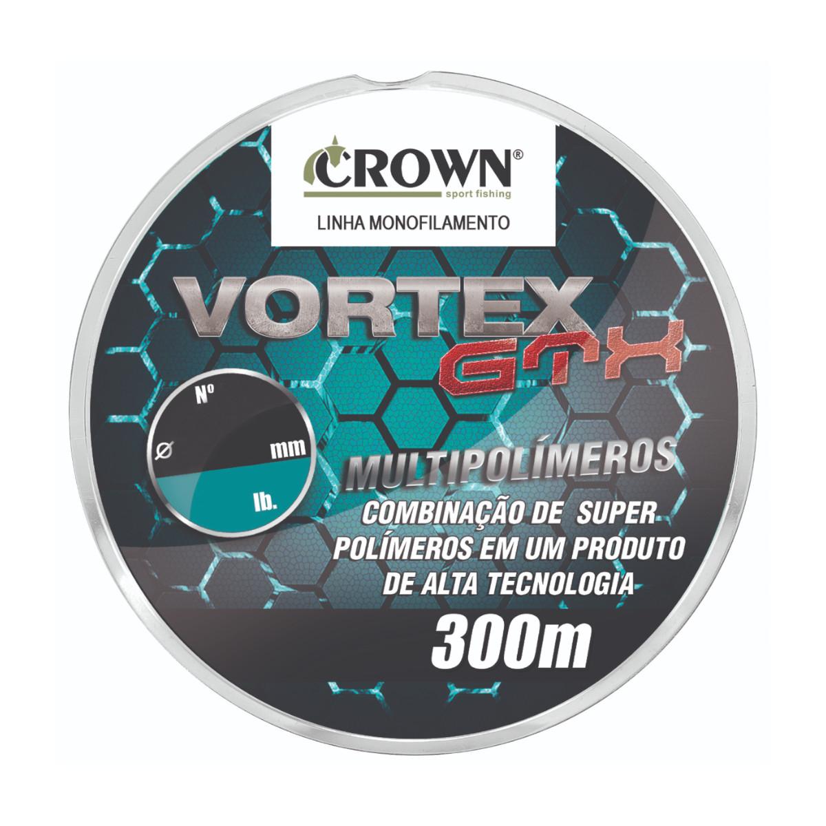 Linha Monofilamento Crown Vortex GTX 0,30mm 20Lbs 300m