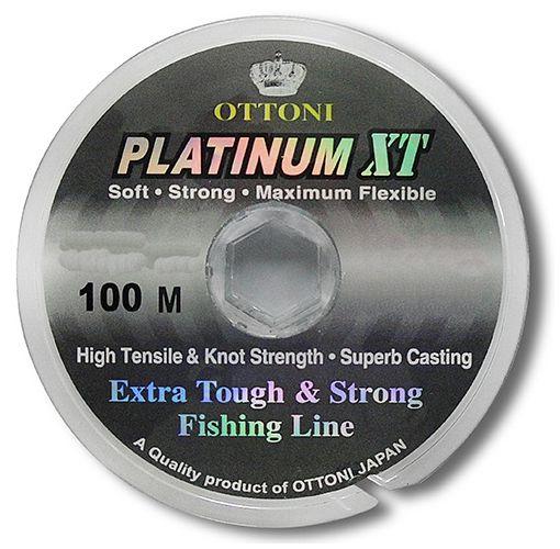 Linha Monofilamento Ottoni Platinum XT 0,45mm 55,2Lbs - 100m