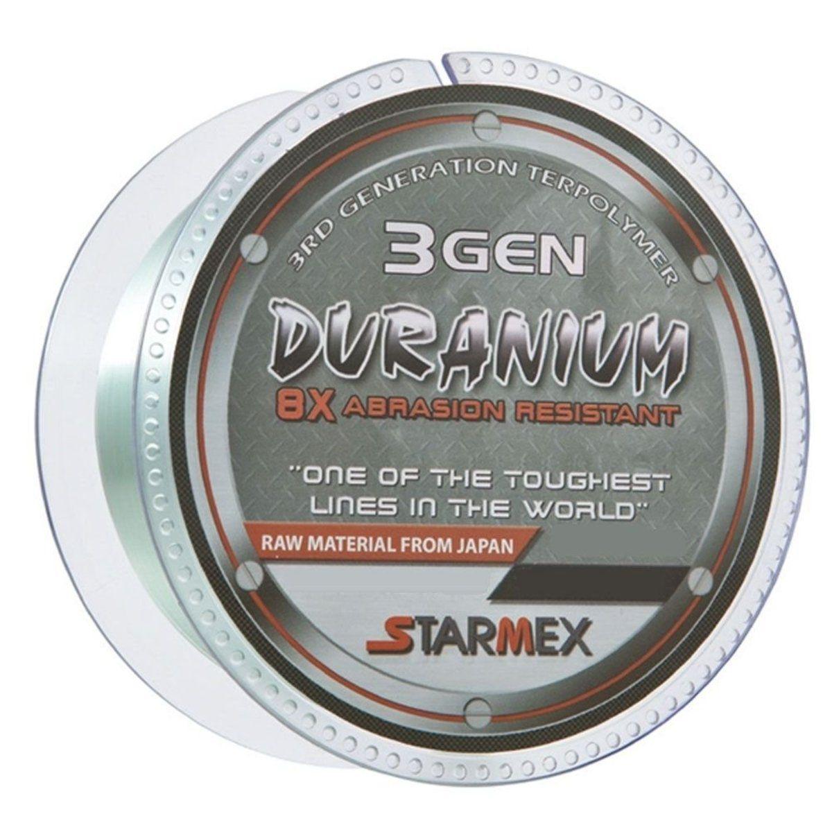 Linha Monofilamento Starmex Duranium/DuraNew 8x 3 GEN 0,22mm 13Lbs 300m - Cinza