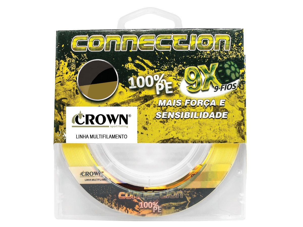 Linha Multifilamento Crown Connection 9x 0,18mm 24Lbs 150m - Yellow