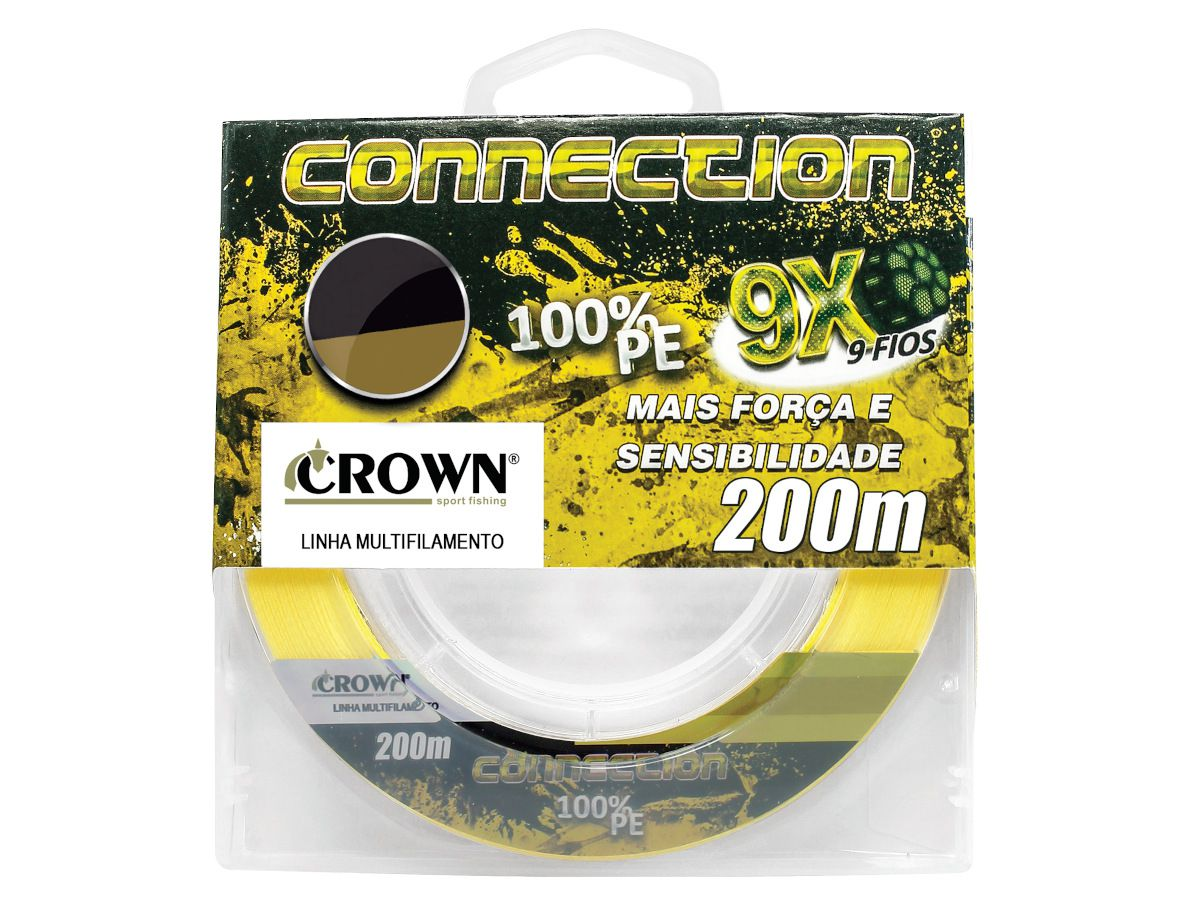 Linha Multifilamento Crown Connection 9x 0,47mm 100Lbs 200m - Yellow
