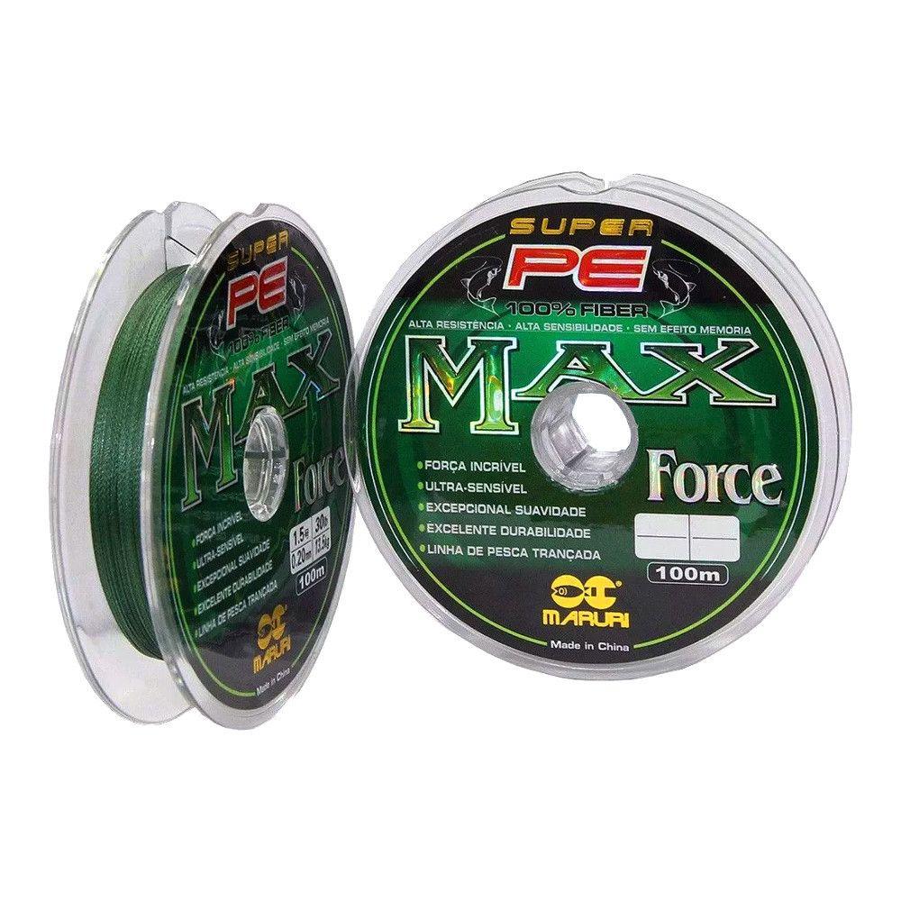 Linha Multifilamento Max Force 0,20mm 25Lbs - 100m