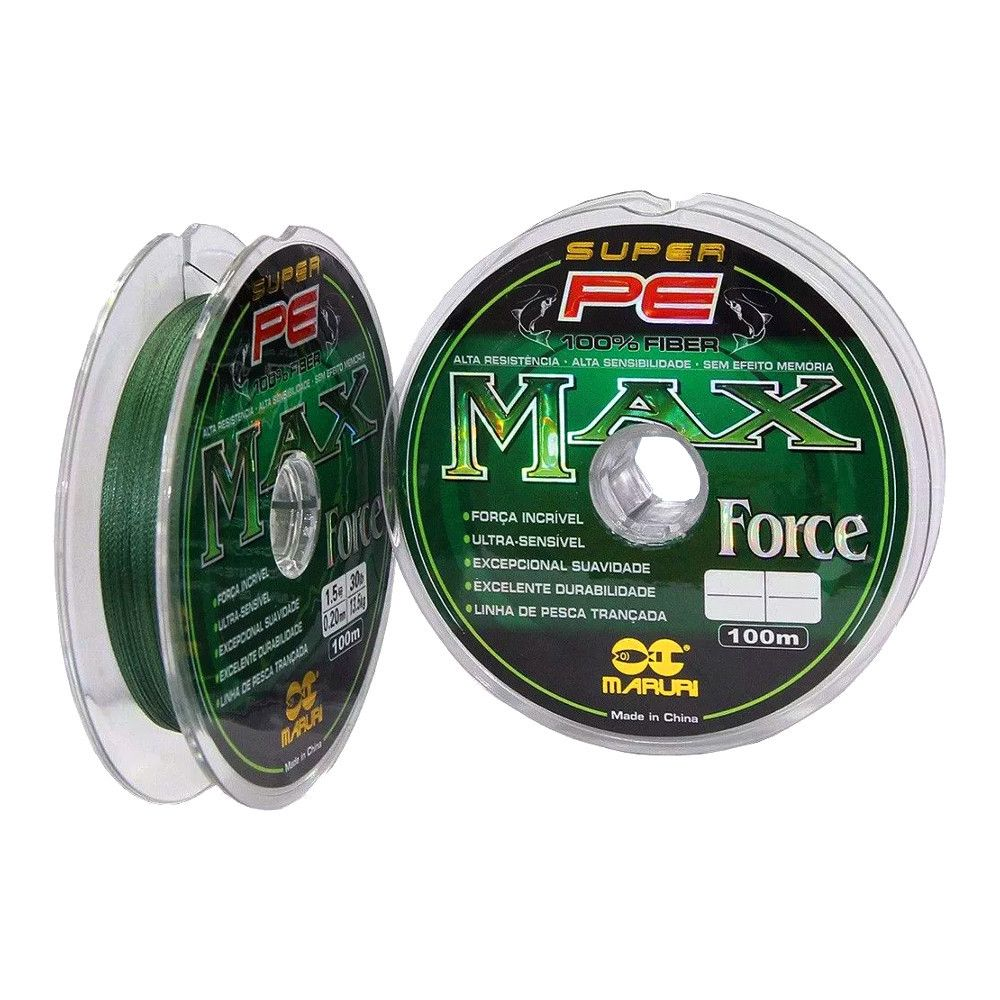 Linha Multifilamento Max Force 0,52mm 65Lbs - 100m