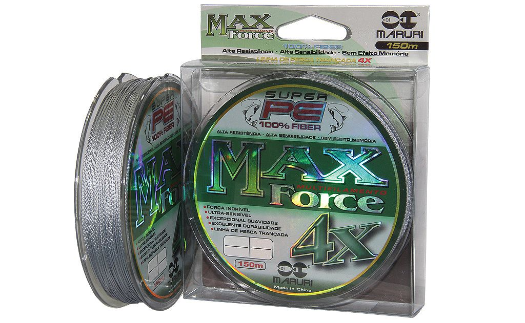 Linha Multifilamento Max Force 4x 0,18mm 24Lbs - 150m
