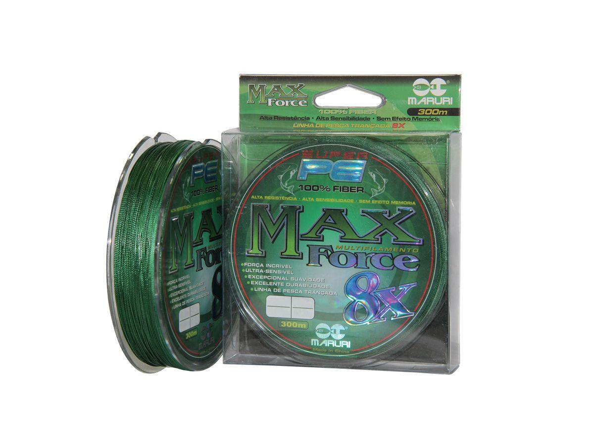 Linha Multifilamento Max Force 8x 0,24mm 26Lbs - 300m