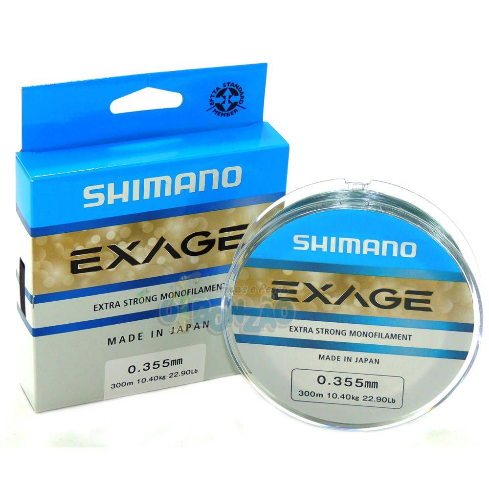Linha Shimano Monofilamento Exage Extra Forte 0,355mm 22,90lb - 300m