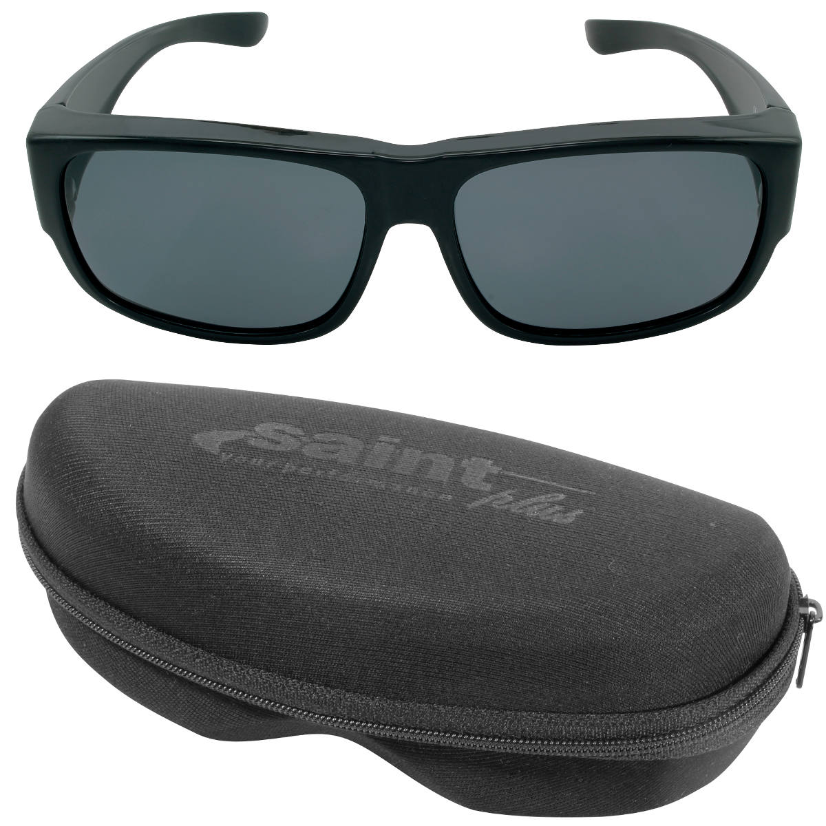 3a32cd3ae644c Óculos de Sol Polarizado Saint Plus Over Glass - Black - Bonzao Armas e  Pesca ...