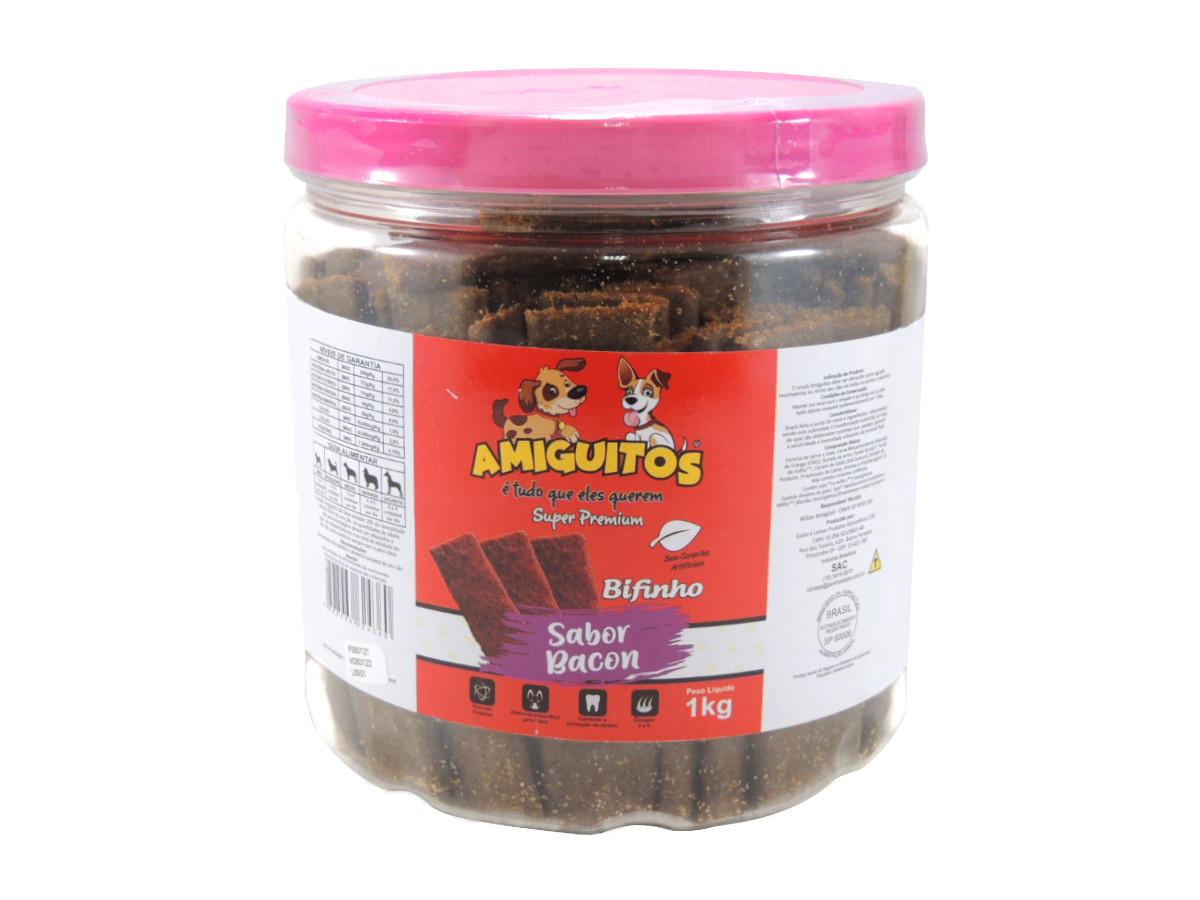 Petisco Amiguitos Super Premium Bifinho - 1Kg