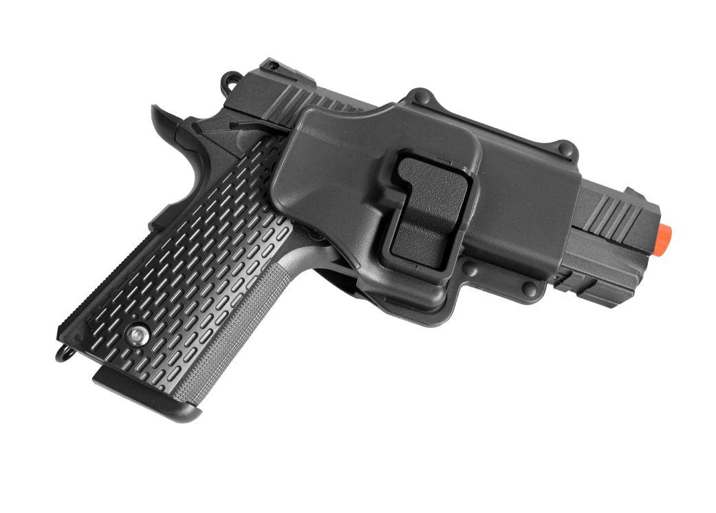 Pistola Airsoft Galaxy G25+ Full Metal Spring com Coldre Rígido
